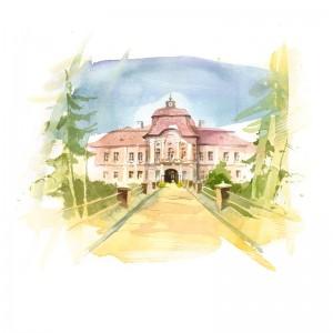 Csillag István képeslap - gernyeszegi Teleki-kastély