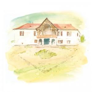 CSILLAG ISTVÁN képeslap - olaszteleki Daniel-kastély