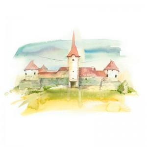 CSILLAG ISTVÁN képeslap - alsórákosi Sükösd-Bethlen kastély
